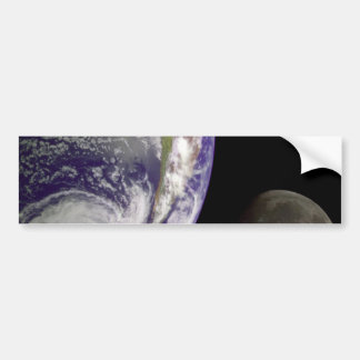 The Earth and Moon Bumper Sticker