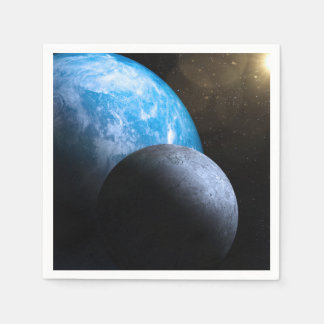 The Earth and Moon Paper Napkin