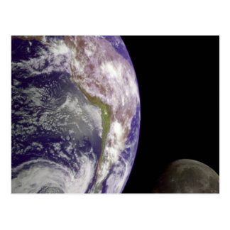 The Earth and Moon Postcard