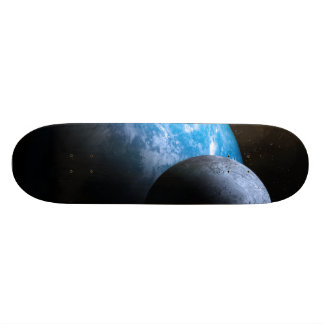 The Earth and Moon Skate Board Deck