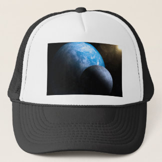 The Earth and Moon Trucker Hat