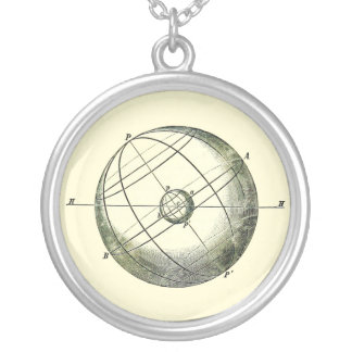 The Earth and the Celestial Sphere Pendant