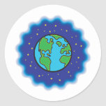 The Earth at Night design Stickers