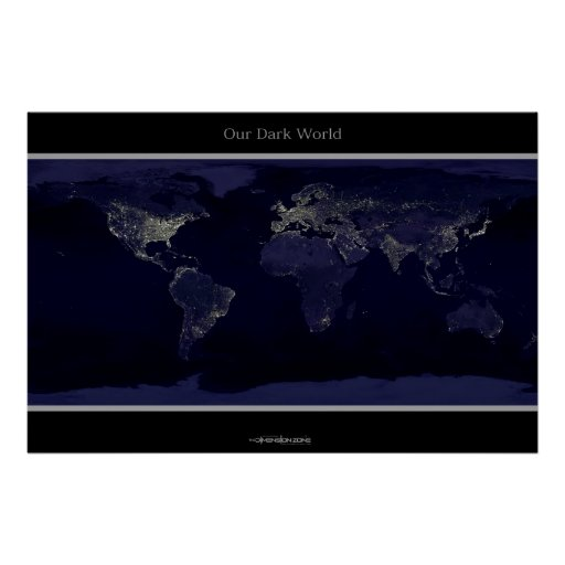 The Earth at Night Poster