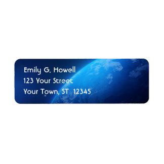 The Earth Avery Label Return Address Label