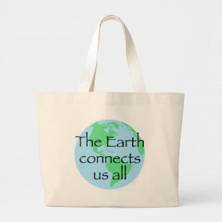The Earth Connects Us All Canvas Bags