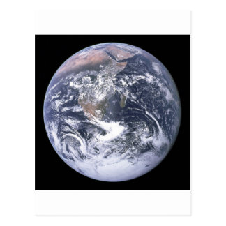 the earth from space postcard