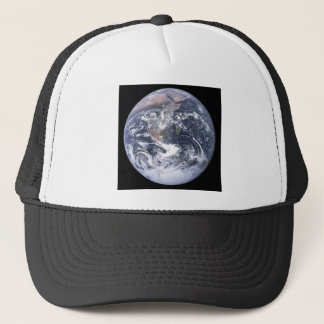the earth from space trucker hat