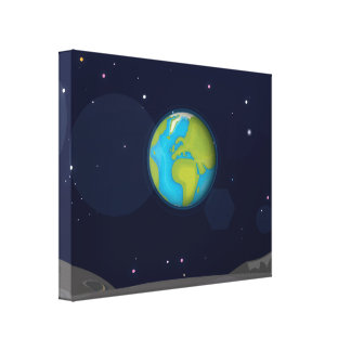 The Earth from the Moon Canvas Print