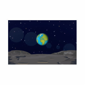 The Earth from the Moon Cutout