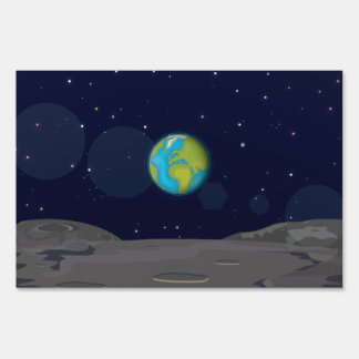 The Earth from the Moon Lawn Sign