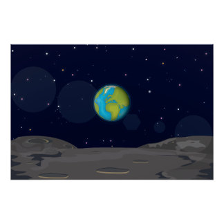 The Earth from the Moon Poster