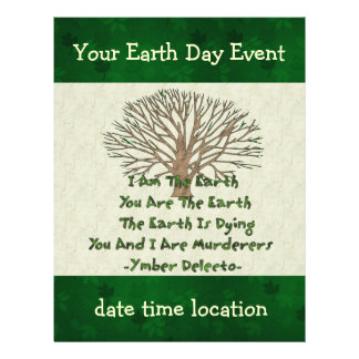 "The Earth Is Dying 8.5"" X 11"" Flyer"