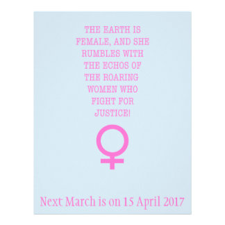 The Earth is Female Flyer