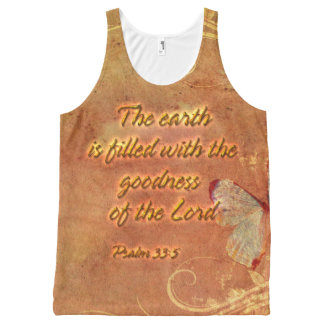 The earth is filled with the... All-Over print tank top