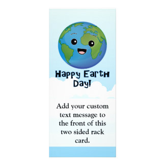 The Earth is Happy Day Rack Card
