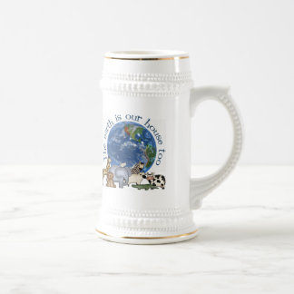 The Earth Is Our House Too Ecology Beer Stein