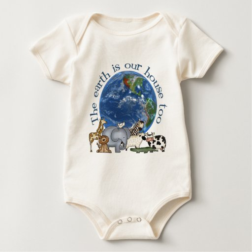 The Earth Is Our House Too Organic Baby Romper