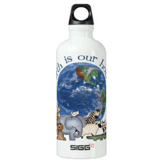 The Earth Is Our House Too Water Bottle