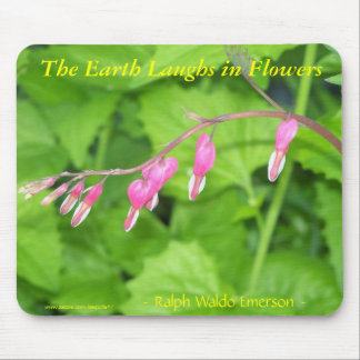 THE EARTH LAUGHS IN FLOWERS - BLEEDING HEARTS MOUSE PAD