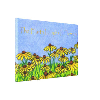 The Earth Laughs In Flowers Canvas