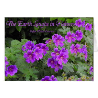 The Earth Laughs in Flowers Card