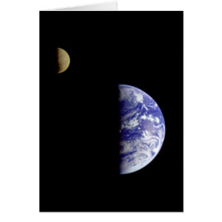 The Earth & Moon From Space Card