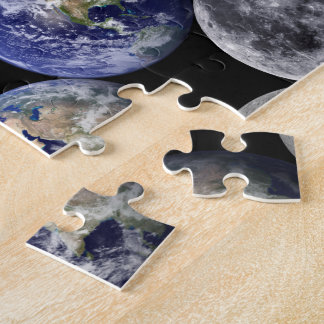 The Earth & Moon From Space Jigsaw Puzzle