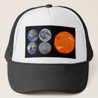 The Earth & Moon From Space & The Sun Trucker Hat