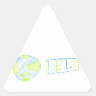the Earth needs Help Triangle Sticker