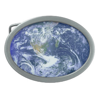 The Earth Oval Belt Buckle