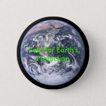 The_Earth_seen_from_Apollo_17, Vote for Earth's... Pinback Button