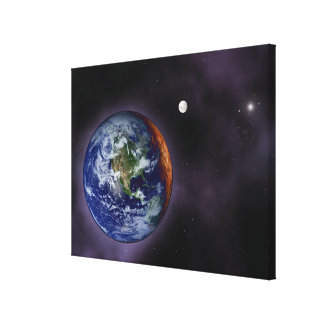 The Earth shown at the outer edges Canvas Print