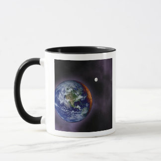 The Earth shown at the outer edges Mug