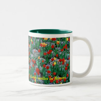 The Earth smiles in flowers - Green  by TDGallery Mug