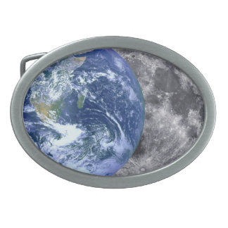 The Earth & The Moon Oval Belt Buckle