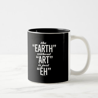 The Earth without Art is just Eh -   Yoga Fitness  Two-Tone Coffee Mug