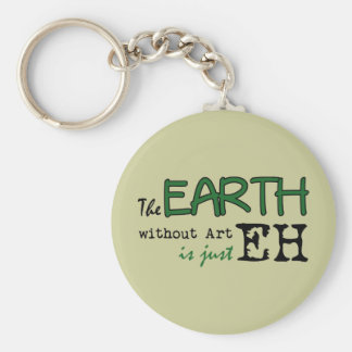 The Earth Without Art Keychain