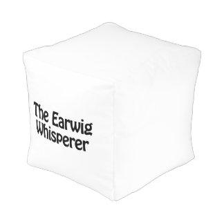 the earwig whisperer cube pouf