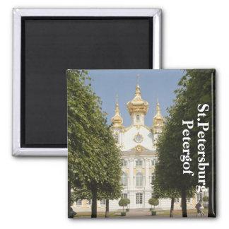 The East Chapel. Petergof, St.Petersburg 2 Inch Square Magnet