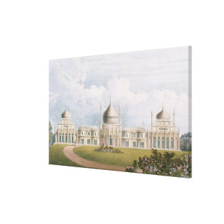 The East Front, from 'Views of the Royal Pavilion, Canvas Print