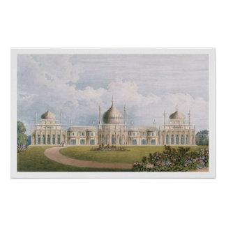 The East Front, from 'Views of the Royal Pavilion, Poster