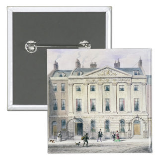 The East front of Skinners' Hall, 1851 2 Inch Square Button