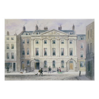 The East front of Skinners' Hall, 1851 Poster