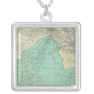 The East Indies, with the roads northern section Square Pendant Necklace