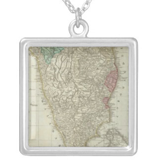 The East Indies, with the roads southern section Square Pendant Necklace
