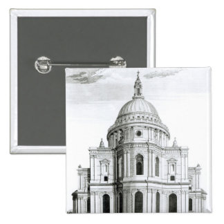 The East Prospect of St. Paul's Cathedral 2 Inch Square Button