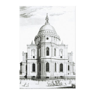 The East Prospect of St. Paul's Cathedral Canvas Print