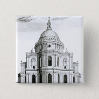 The East Prospect of St. Paul's Cathedral Pinback Button