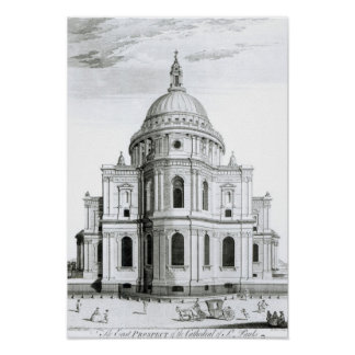 The East Prospect of St. Paul's Cathedral Poster